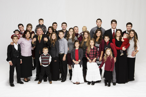 """The Bates family from """"Bringing Up Bates"""" on UP TV. (Photo: Business Wire)"""