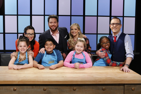 """Junior chefs and judges from """"Chopped Junior"""" on Food Network. (Photo: Business Wire)"""