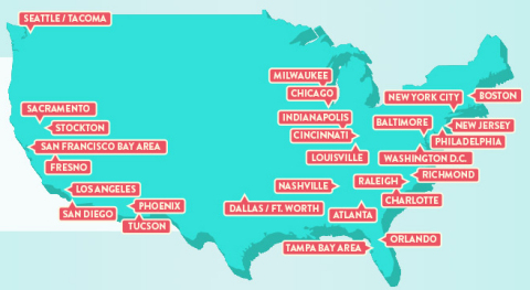 Prime FREE Same-Day Delivery Expands to 11 New Metro Areas (Graphic: Business Wire)