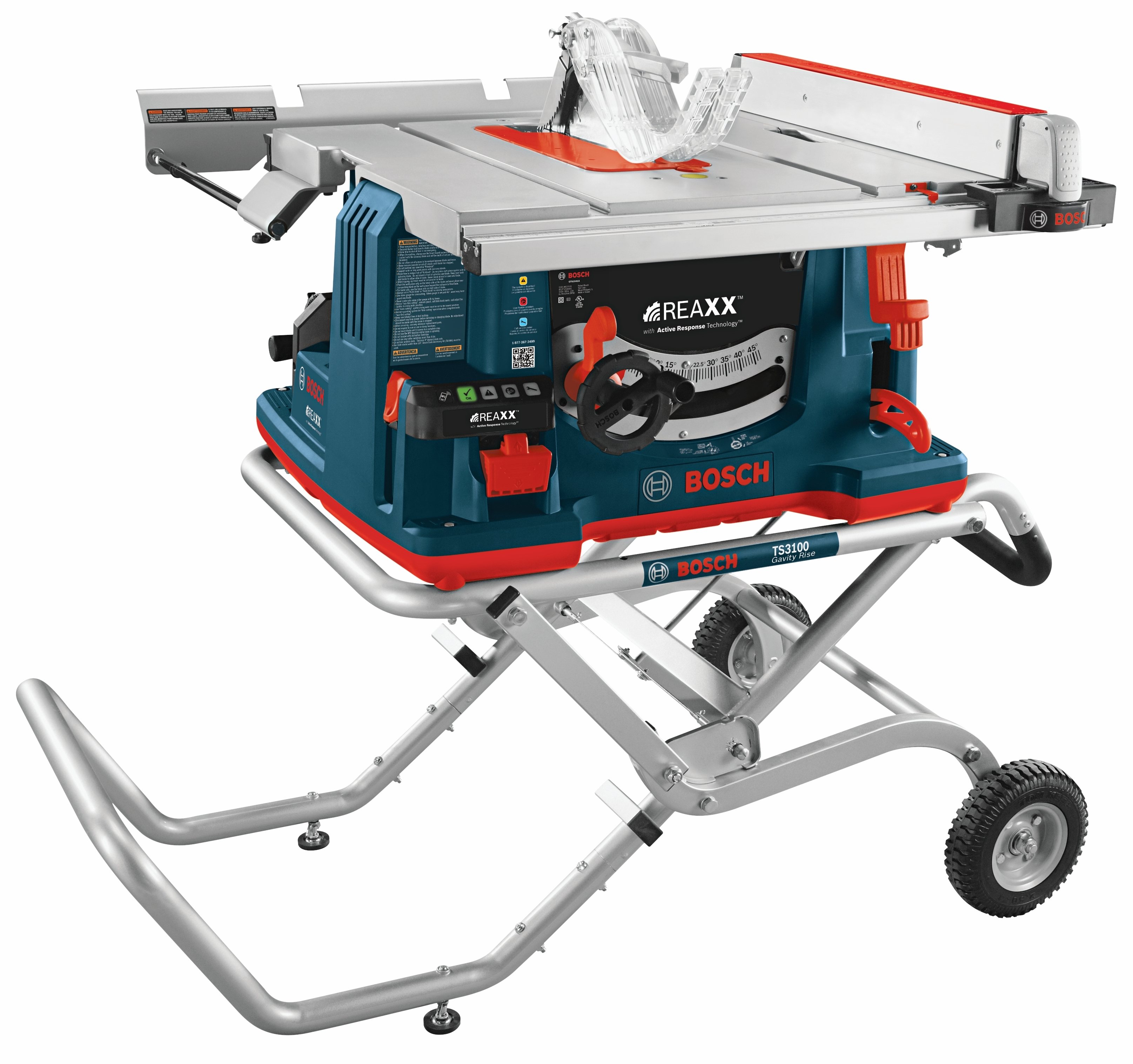 Bosch REAXX™ Jobsite Table Saw is the first saw with the company's proprietary flesh-detecting Active Response Technology™ (Photo: Business Wire)