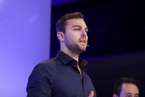 Ben Bilski auf der FinovateEurope 2016 (Foto: Business Wire)