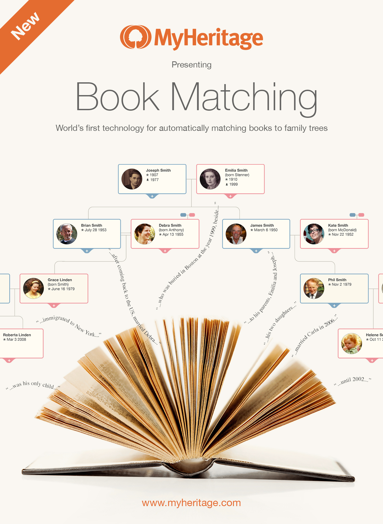 myheritage releases exclusive book matching technology for family