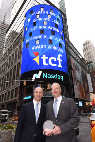 TCF's executive vice president of consumer banking, Mike Jones, and Geoff Thomas, managing director  ...