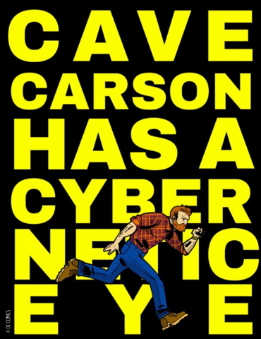 Cave Carson Has a Cybernetic Eye Written by Gerard Way and Jon Rivera; Art by Michael Oeming; Promo Art by Gerard Way