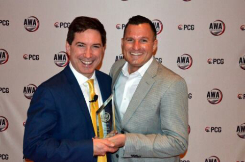 Brian Pasch, Founder of PCG Companies and the AWA Awards and Clint Burns, CEO of Nextup. (Photo: Business Wire)