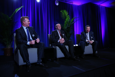Left to Right: Zane Burke, president, Cerner; Ed Cantwell, executive director, Center for Medical Interoperability; Mike Schatzlein, M.D., senior vice president and group ministry operating executive, Ascension Health (Photo: Business Wire)