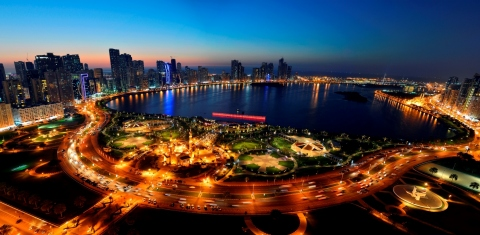 Sharjah City at Night (Photo: Business Wire)