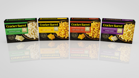 Whether mild, sharp, zesty or smoky, Cracker Barrel Macaroni & Cheese has something for everyone. (P ...