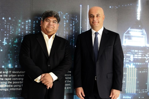 Left to Right: Dilip Rahulan, Executive Chairman and CEO, Pacific Control Systems and Samer Abu Ltai ...