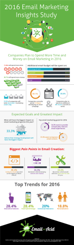 2016 Email Marketing Insights Summary (Graphic: Business Wire)