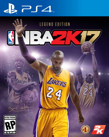 2K today announced that NBA 2K will celebrate the renowned basketball legacy of the Los Angeles Lakers' Kobe Bryant by featuring the 18-time NBA All-Star on the cover of the NBA 2K17 Legend Edition. (Graphic: Business Wire)