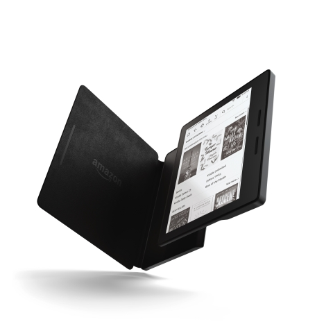Kindle Oasis with Premium Leather Charging Cover (Photo: Business Wire)