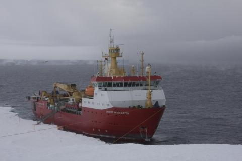 The RRS Ernest Shackleton will escort Crystal Serenity through the Northwest Passage. Photo Credit: British Antarctic Survey (BAS)