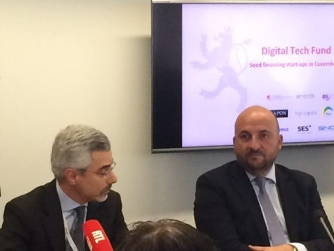 From left to right: Karim Michel Sabbagh, President & CEO SES, and Etienne Schneider, Luxembourg Vic ...