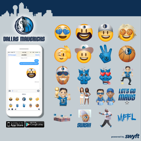 Dallas Mavericks Rally Playoff Support with New Emoji Keyboard Powered by Swyft Media (Photo: Busine ...