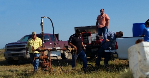 Cobalt operating their H2S-N system at a customer site in Texas. (Photo: Business Wire)