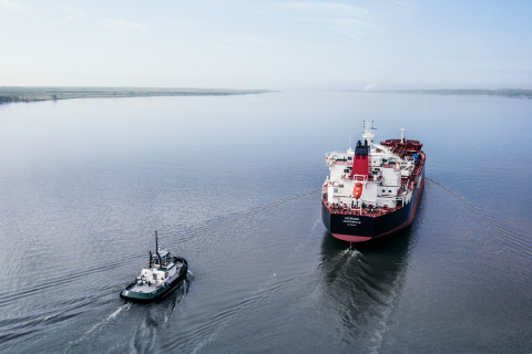 Louisiana during its sea trials. (Photo: Business Wire)