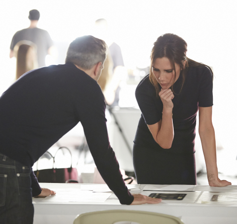 Victoria Beckham Estee Lauder Behind the Scenes (Photo by Estee Lauder)
