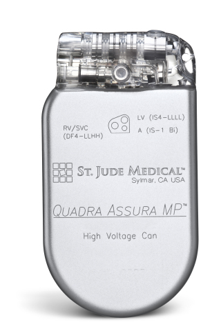 Quadra Assura MP CRT-D. Courtesy of St. Jude Medical. (Photo: Business Wire)