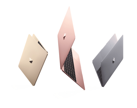 Apple updated MacBook with the latest processors, improved graphics performance, faster flash storage, an additional hour of battery life and a new rose gold finish. (Photo: Business Wire)