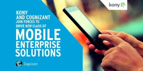 Kony and Cognizant Join Forces to Drive New Class of Mobile Enterprise Solutions. (Photo: Business W ...