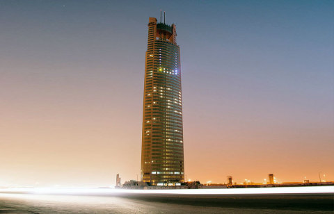 Tamkeen Tower, where the newest Cyviz Experience Center is located. (Photo: Business Wire)