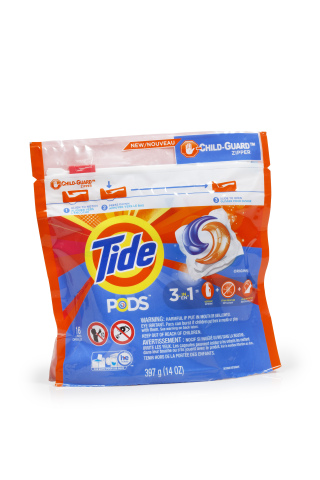 Tide® Pods™ package design with a new Child-Guard™ zipper (image) (Photo: Business Wire)