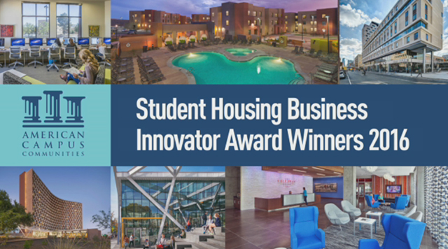 American Campus Communities Wins Five INNOVATOR Awards