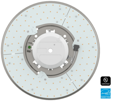 Terralux introduces the SR12 series, easy-to-install LED upgrades for use in commercial ceiling domes, drum pendants, and parking garage fixtures at Lightfair 2016. (Photo: Business Wire)