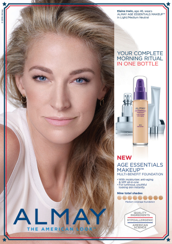Elaine Irwin to Front New Almay Age Essentials(TM) Collection (Photo: Business Wire)