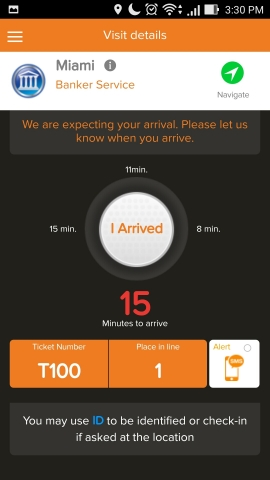 Q-nomy's myVisit mobile appointment booking, check in and queue management app (Photo: Q-nomy Inc.)