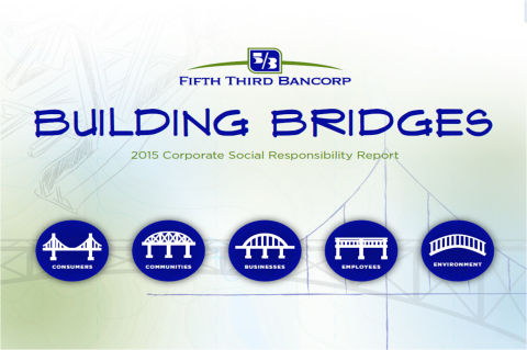 The cover page of the Fifth Third Bancorp 2015 Corporate Social Responsibility Report (Photo: Business Wire)