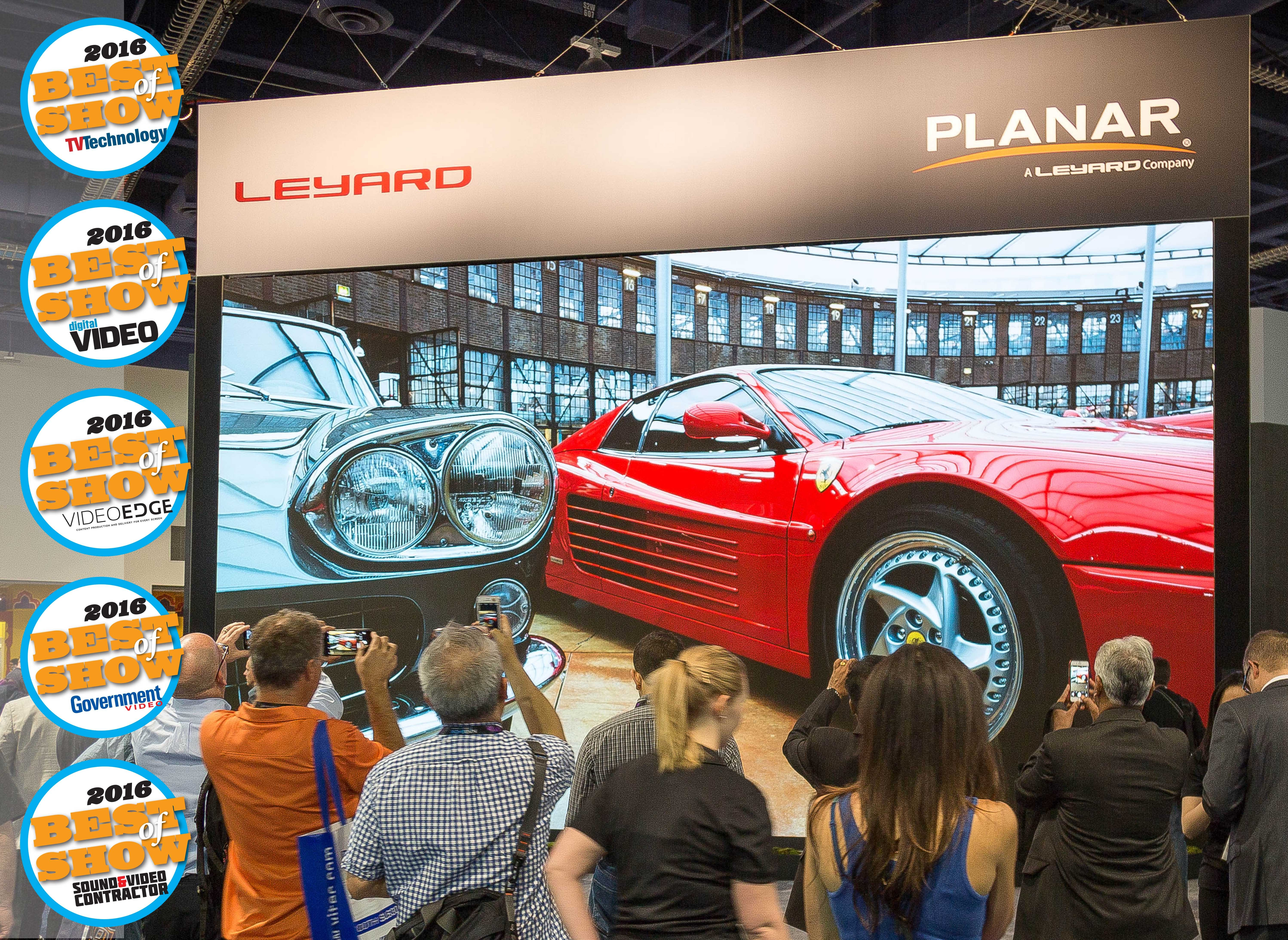 leyard 8k video wall sweeps industry awards at nab 2016   business wire