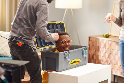 Behind the scenes with MC Hammer on the set of the Command Do. No Harm. Campaign shoot (Photo: Michael Simon; StarTraks Photo)