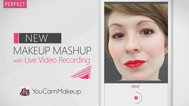 The World's #1 Makeover App, YouCam Makeup, Introduces Live Video Recording Feature for Real-Time Makeup Effects