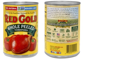 Red Gold unveiled a cleaner, easier-to-read format that helps busy shoppers quickly understand what's in each can of their tomato products. (Photo: Business Wire)