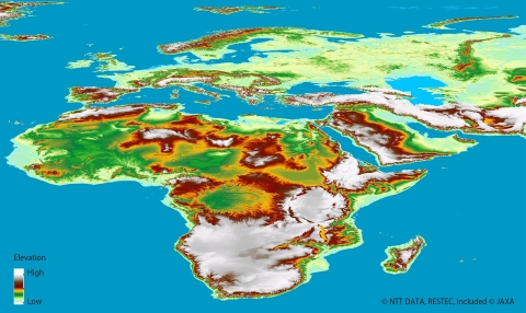 AW3D(TM) Global Digital 3D Map (Africa and Europe) (Graphic: Business Wire)