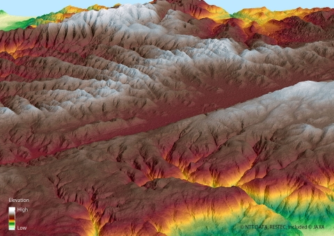 5m resolution 3D Map of the San Andreas Fault (Digital Elevation Model) (Graphic: Business Wire)
