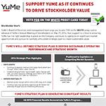 YuMe's Letter to Stockholders
