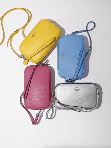 Treat Mom with the very best gifts available at select Macy's stores and on macys.com; Coach Crossbody Clutch in Pebble Leather, $165 (Photo: Business Wire)