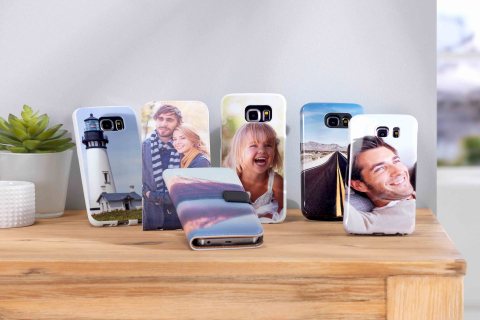 Look personal: una funda personalizada con sus propias fotos (Photo: Business Wire)