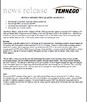 Tenneco reports record results for first quarter 2016.