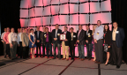 Nortek Air Solutions executives congratulate Gil-Bar Industries of New York on winning their Circle of Champions award at their recent national sales conference. (Photo: Nortek Air Solutions)