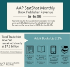 Trade Book sales were up 0.8% in 2015 vs. 2014. Publisher revenues for Adult Books were up 2.2%, with significant growth in downloaded audio and paperback book formats. (Graphic: Business Wire)