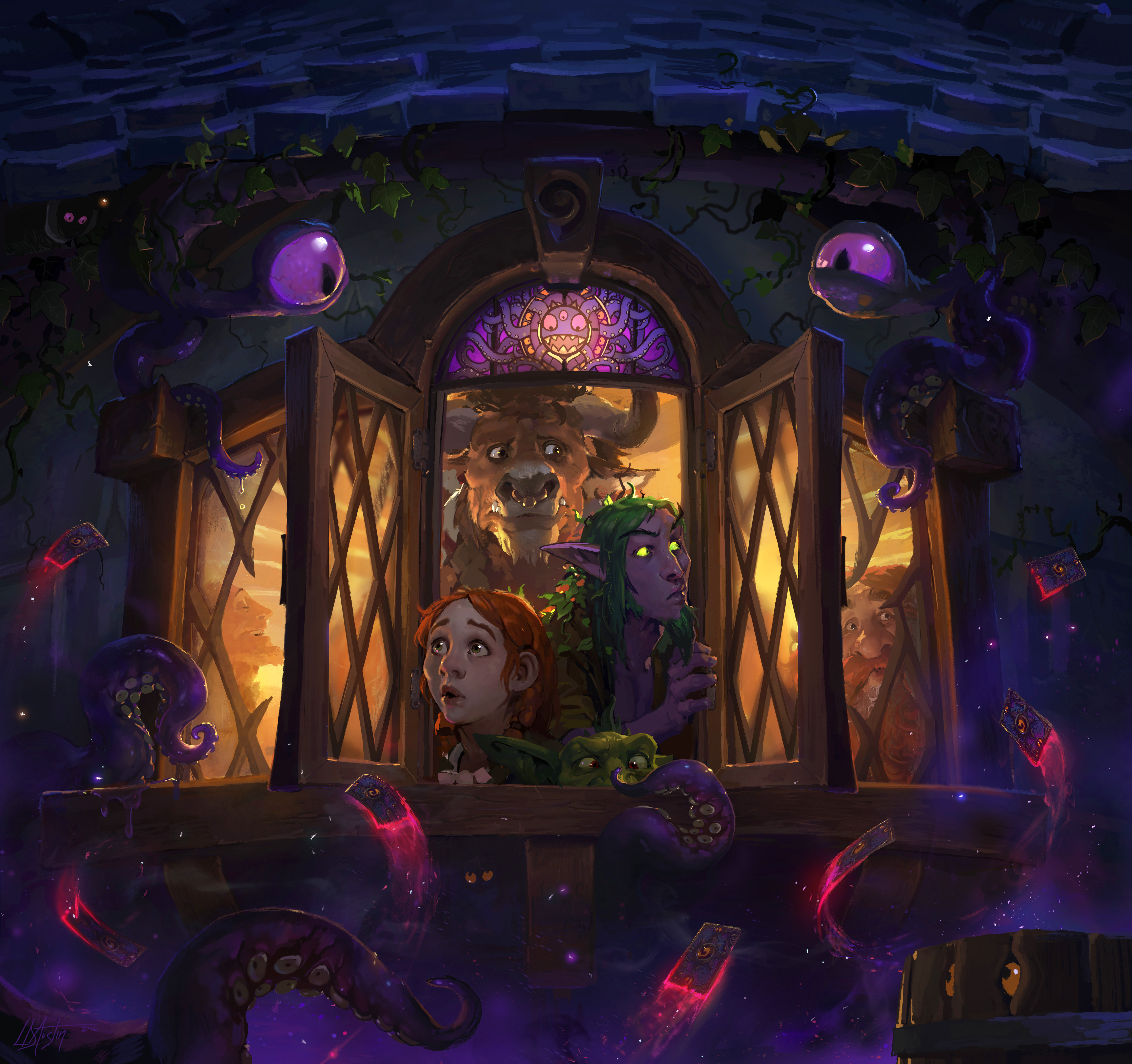 Tavern-goers beware: Whispers of the Old Gods has descended upon Hearthstone! (Graphic: Business Wire)