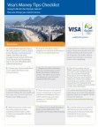 Visa's Money Tips Checklist (Graphic: Business Wire)