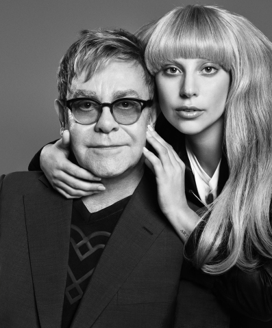 Lady Gaga and Sir Elton John partner with Macy's on new limited-edition line, Love Bravery, available exclusively at Macy's stores and macys.com this Spring (Photo: Business Wire)