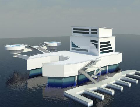 First place in the Art and Architecture category is the Underwater Hotel submitted by Zachary Trippo ...