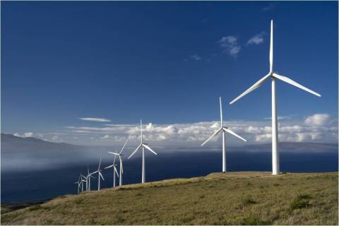 A wind farm in an isolated area in Europe (Photo: Business Wire)