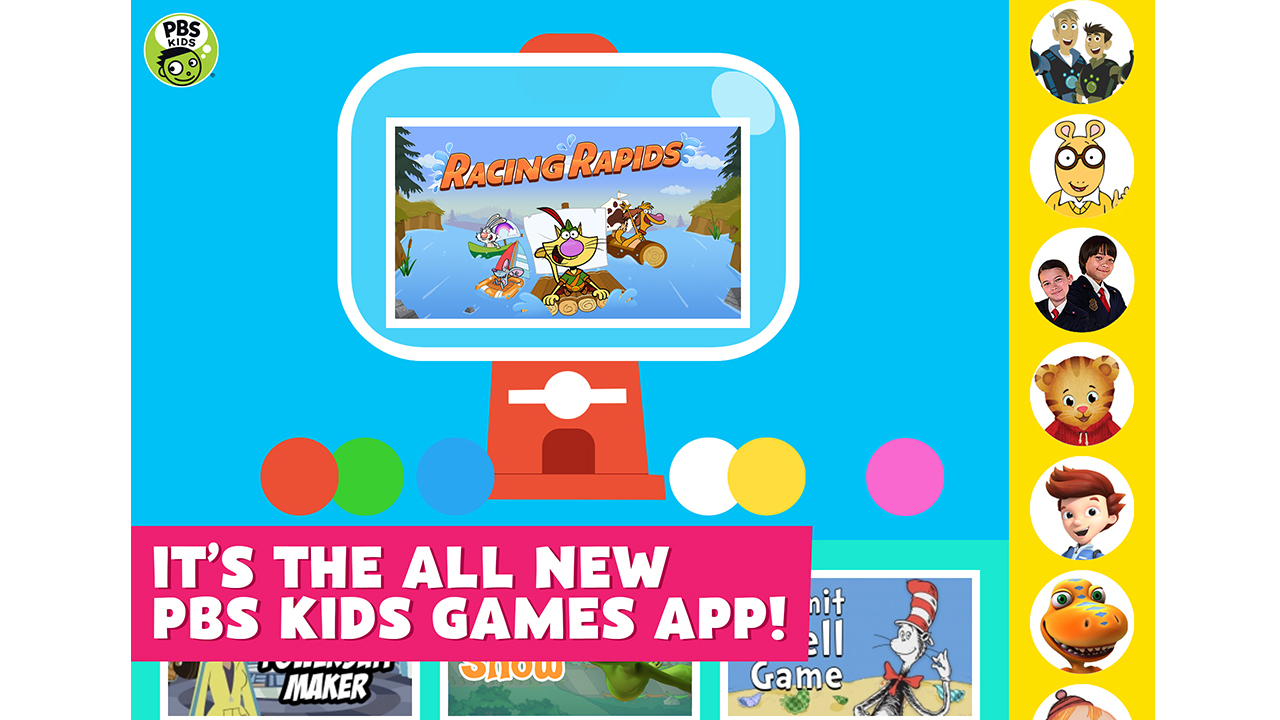 new app offers free access to pbs kids games anytime anywhere